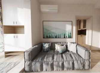 30平米小户型现代简约风格客厅图