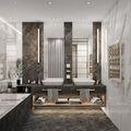 140平米别墅新古典风格卫生间图片大全