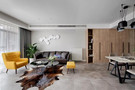富裕型140平米四日式风格客厅图片