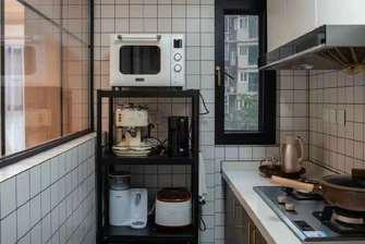 经济型50平米一室一厅北欧风格厨房欣赏图