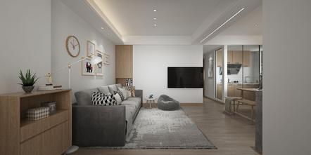 富裕型90平米三室三厅日式风格客厅装修效果图