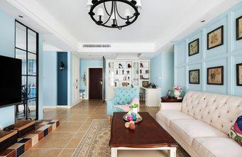 10-15万110平米三室一厅田园风格客厅图片大全