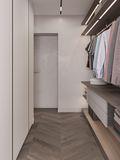 豪华型140平米三室一厅欧式风格衣帽间图片大全