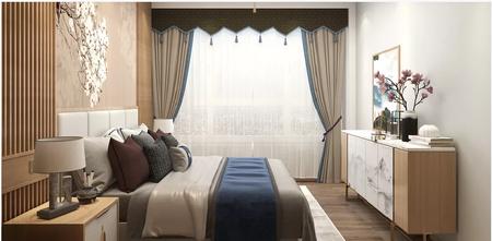 经济型60平米一居室中式风格卧室图