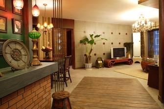 110平米三地中海风格客厅装修效果图