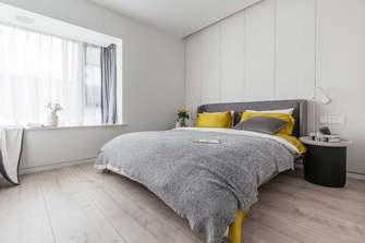 富裕型120平米三室两厅北欧风格卧室图