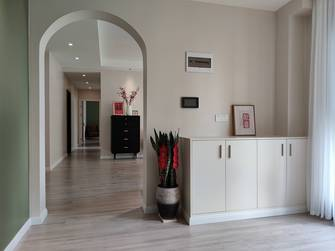 富裕型130平米四室两厅美式风格玄关图片大全