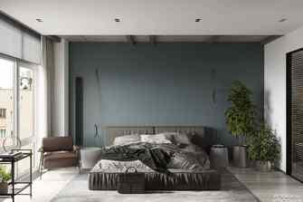 三英伦风格卧室图