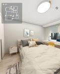 豪华型110平米三室两厅现代简约风格卧室装修图片大全