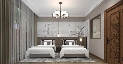 140平米公寓中式风格卧室装修图片大全