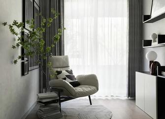富裕型120平米三室两厅现代简约风格书房图片大全