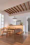 5-10万100平米三室一厅田园风格餐厅装修效果图