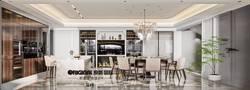20万以上140平米复式欧式风格餐厅欣赏图