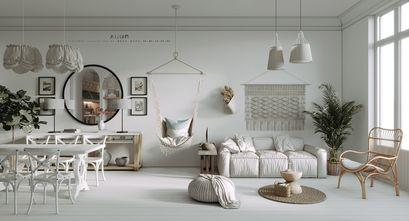 豪华型80平米公寓混搭风格客厅装修案例