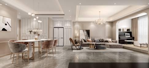 豪华型130平米四室两厅法式风格客厅效果图