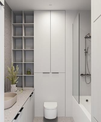 经济型60平米一居室混搭风格卫生间图片