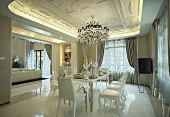 5-10万140平米别墅新古典风格餐厅欣赏图
