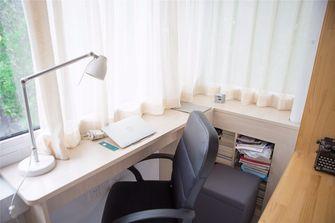 富裕型100平米三室两厅现代简约风格书房装修图片大全