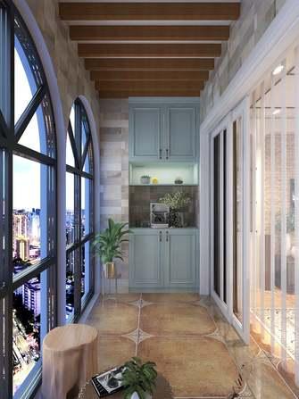 豪华型130平米三室一厅美式风格阳台装修图片大全
