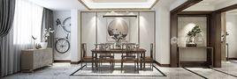 豪华型140平米四新古典风格餐厅装修案例