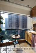 富裕型80平米三室两厅欧式风格阳台欣赏图