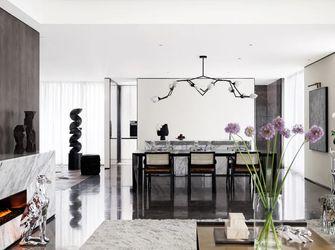 140平米三室一厅现代简约风格餐厅图