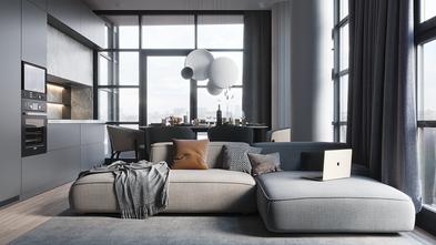 经济型50平米三室两厅港式风格客厅效果图