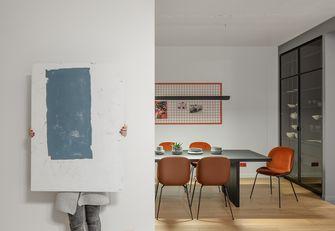 富裕型80平米三室两厅英伦风格餐厅装修案例