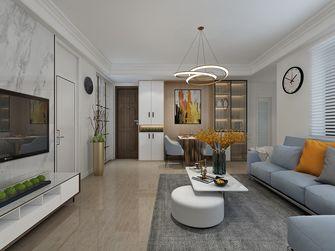 富裕型90平米现代简约风格客厅装修图片大全