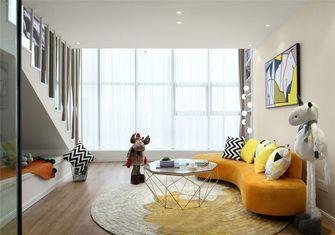 富裕型60平米复式北欧风格客厅装修图片大全