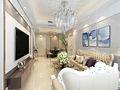 80平米欧式风格客厅欣赏图