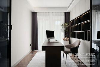 豪华型140平米复式现代简约风格书房设计图