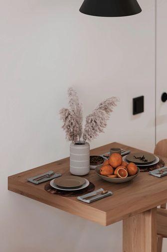 3-5万50平米小户型现代简约风格餐厅设计图