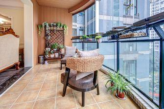 120平米三室两厅美式风格阳台效果图