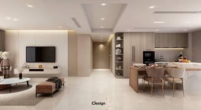 豪华型100平米三室两厅现代简约风格客厅效果图