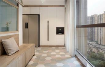 20万以上130平米三室两厅混搭风格玄关图