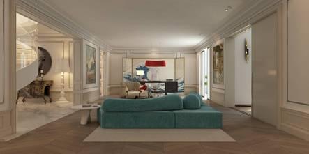 20万以上140平米别墅法式风格客厅图片