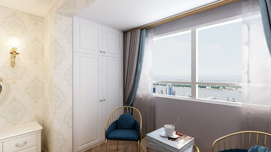 60平米公寓欧式风格阳台装修图片大全