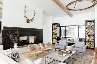 富裕型140平米别墅田园风格客厅图片
