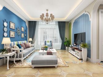 110平米三室两厅地中海风格客厅装修案例