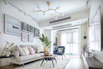 富裕型60平米一室两厅北欧风格客厅图