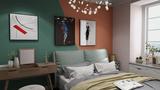 140平米三现代简约风格卧室装修效果图