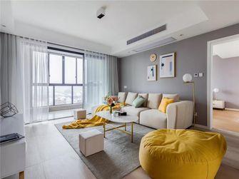 富裕型110平米三室两厅北欧风格客厅图