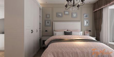 120平米三室两厅地中海风格卧室设计图