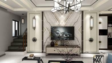 110平米三室三厅中式风格客厅图片
