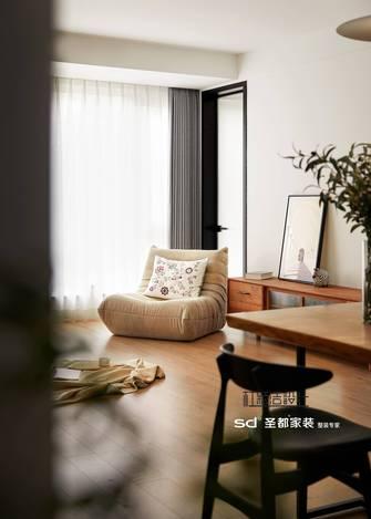 110平米三室两厅日式风格客厅欣赏图