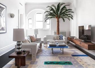 3-5万90平米三室一厅地中海风格客厅欣赏图