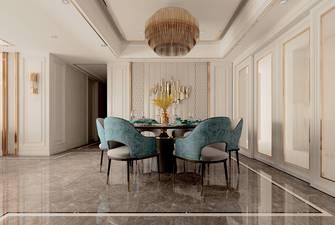 140平米三室两厅地中海风格餐厅设计图