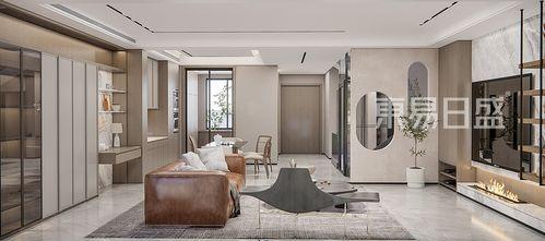 豪华型140平米四室五厅混搭风格客厅图
