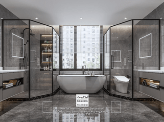 豪华型140平米别墅现代简约风格卫生间欣赏图